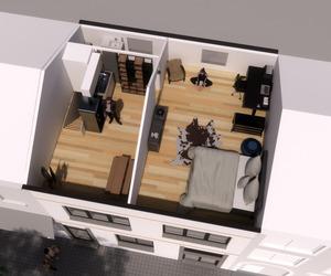 Rijwoning / opbouw verdiepingsplannen / 2de verdieping