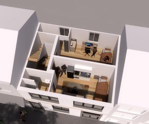 Rijwoning / opbouw verdiepingsplannen  / 1ste Verdieping.