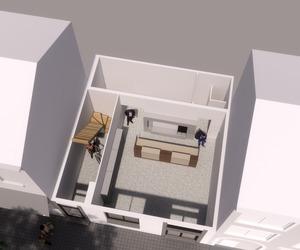 By Ivo Toremans bvba Rijwoning / opbouw verdiepingsplannen / gelijkvloers.