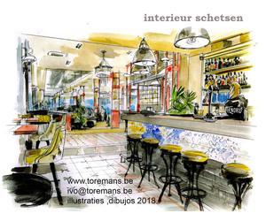 Ivo Toremans  - Interieurdesign - sfeer beelden - Art-impressies in aquarelle.