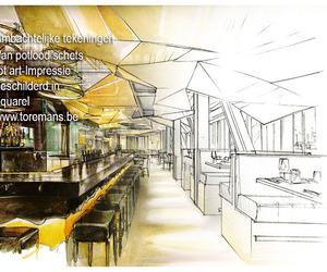 Aquarel tekeningen by Ivo Toremans , Branding bureaus, interieur designers.