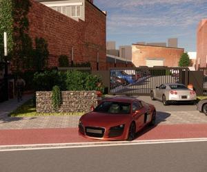 Parking en groen voorziening.