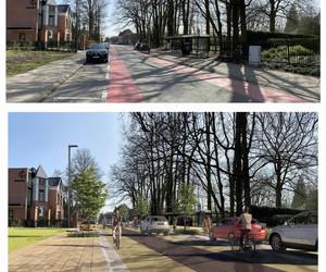 Her aanleg , straat - fietspad - rijstrook - parkeerstrook enz...